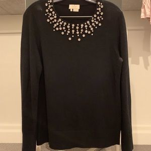 Kate spade black embellished sweater sz M